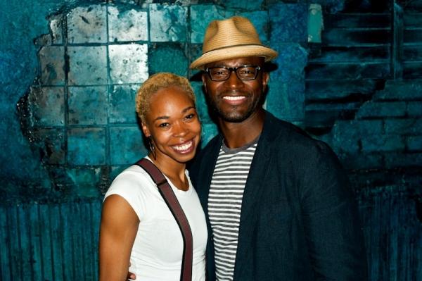 Photo Flash: Taye Diggs Visits MEMPHIS!