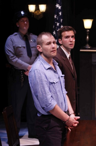Ryan Scoble, Chad Kimball and Guy Burnet at MURDER IN THE FIRST Debuts Off-Broadway Tonight at 59E59 Theaters