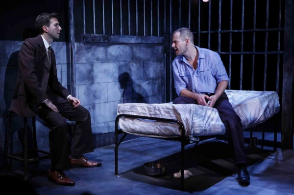 Guy Burnet and Chad Kimball at MURDER IN THE FIRST Debuts Off-Broadway Tonight at 59E59 Theaters
