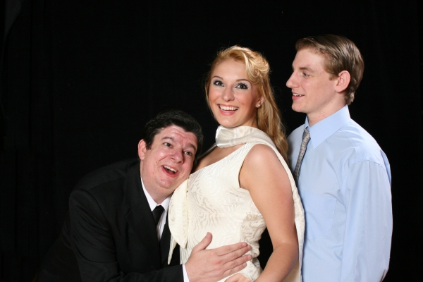 Bernie Cardell as Max, Nicole Campbell as Ulla, and Tim Howard as Leo Photo