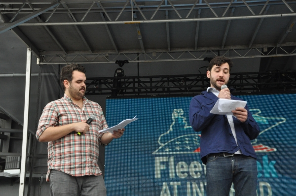 Greg Hildreth and Teddy Berman at Casts of ANYTHING GOES, SISTER ACT, GHOST and More Perform for Fleet Week 2012!