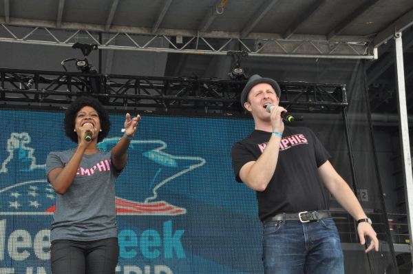 Danyelle Williamson and Justin Patterson at Casts of ANYTHING GOES, SISTER ACT, GHOST and More Perform for Fleet Week 2012!