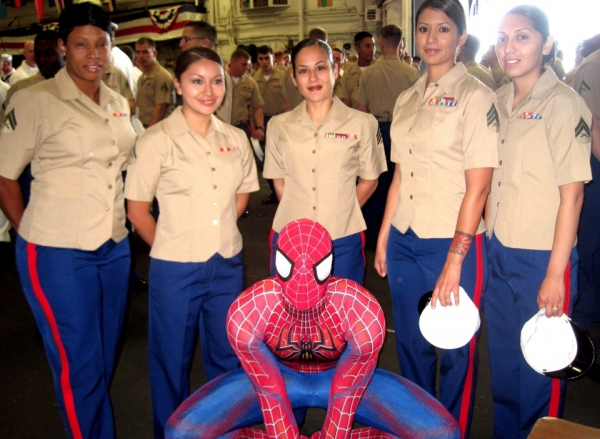 Photo Flash: SPIDER-MAN Welcomes Sailors Aboard USS Wasp for Fleet Week 2012
