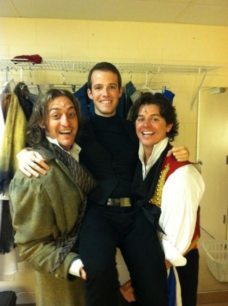 LES MISÉRABLES' Will Gurry with Joseph Spieldenner and Jason Forbach