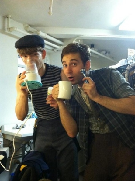 NEWSIES Michael Fatica and Brendon Stimson
