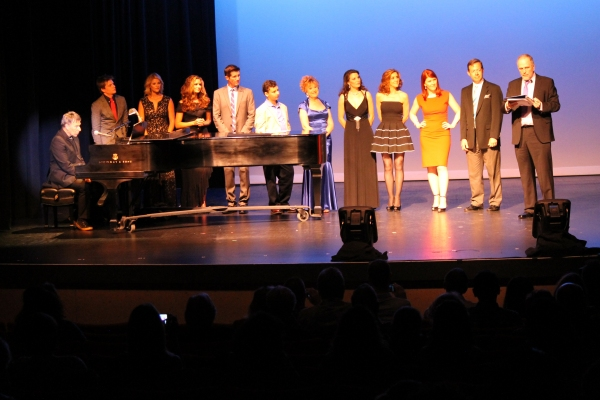 L to R: Stephen Schwartz, Hunter Parrish, Laura L. Thomas, Haviland Stillwell, Ben Reece, Garrett Hoy, Pamla Vale Abramson, Melissa Batalles,  Andrea McArdle, Kate Flannery, Joel Baker and Scott Logsdon
