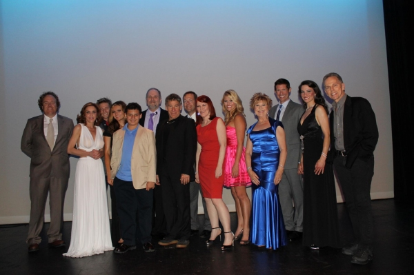 L to R: Eric Olson, Andrea McArdle, Hunter Parrish, Haviland Stillwell, Garrett Hoy, Scott Logsdon, Stephen Schwartz, Joel Baker, Kate Flannery, Laura L. Thomas, Pamla Vale Abramson, Ben Reece, Melissa Batalles, Dean Pitchford