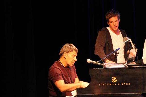 Stephen Schwartz and Hunter Parrish in rehearsal