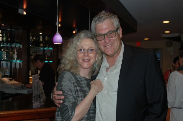 Blythe Danner and Murphy Davis at Ana Gasteyer and Brian d'Arcy James at Bay Street Theatre