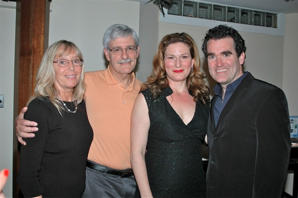 Joanne and Frank Filipo with Ana Gasteyer and Brian d'Arcy James