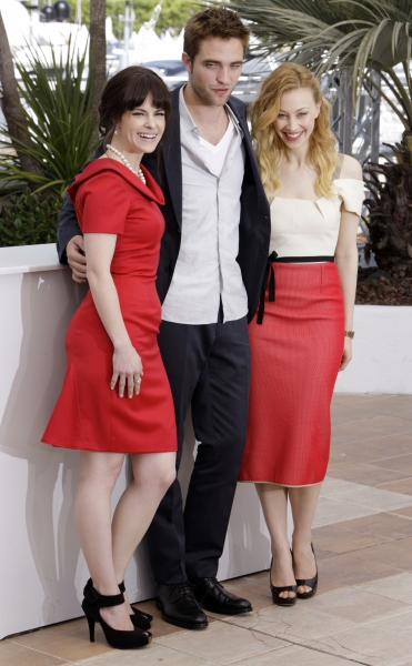 Emily Hampshire, Robert Pattinson and Sarah Gadon