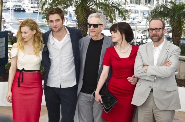 Sara Gadon, Robert Pattinson Director David Cronenburg, Emily Hampshire and Paul Giamatti  at COSMOPOLIS' Robert Pattinson, David Cronenberg et al. at 65th Cannes Film Festival