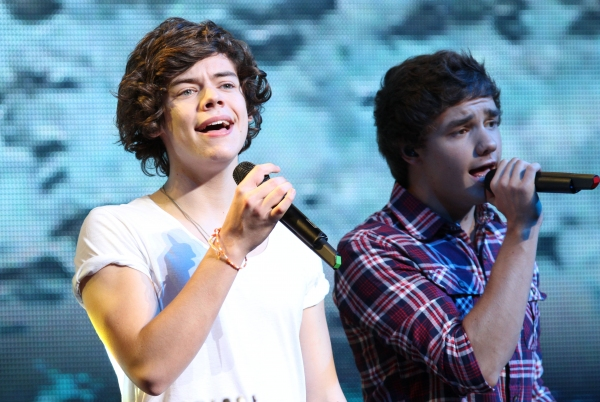 Harry Styles and Liam Payne at ONE DIRECTION's Niall Horan, Zayn Malik, Liam Payne, Harry Styles & Louis Tomlinson Rock NYC
