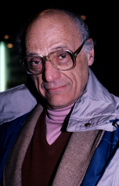 Arthur Miller photographed in New York City in 1993.