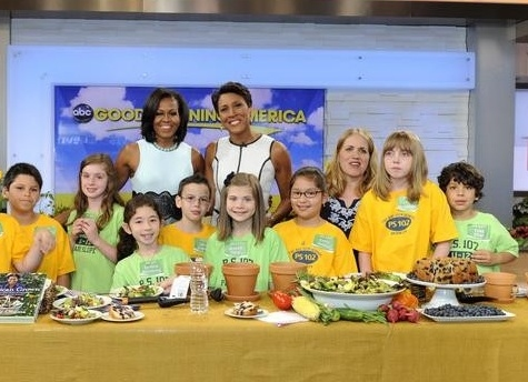 Photo Flash: First Lady Michelle Obama Visits GMA