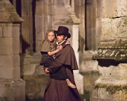 Isabelle Allen & Hugh Jackman at Official Shots Released from Upcoming LES MISERABLES Film!