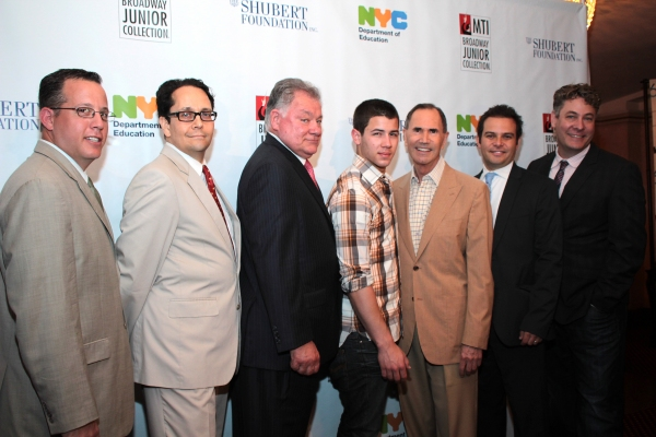 Paul King, Robert Wankel, Nick Jonas, Freddie Gershon, Peter Avery, Timothy Allen McD Photo