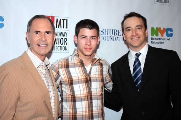 Freddie Gershon, Nick Jonas, Drew Cohen at Inside Broadway Jr. Festivities with Nick Jonas!
