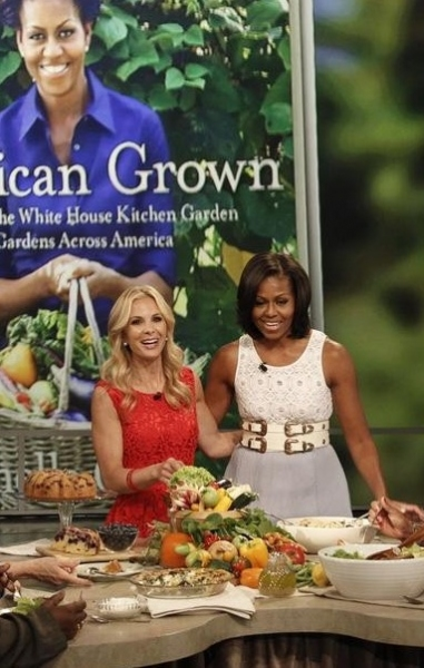 Elisabeth Hasselbeck & Michelle Obama at First Lady Michelle Obama Visits THE VIEW
