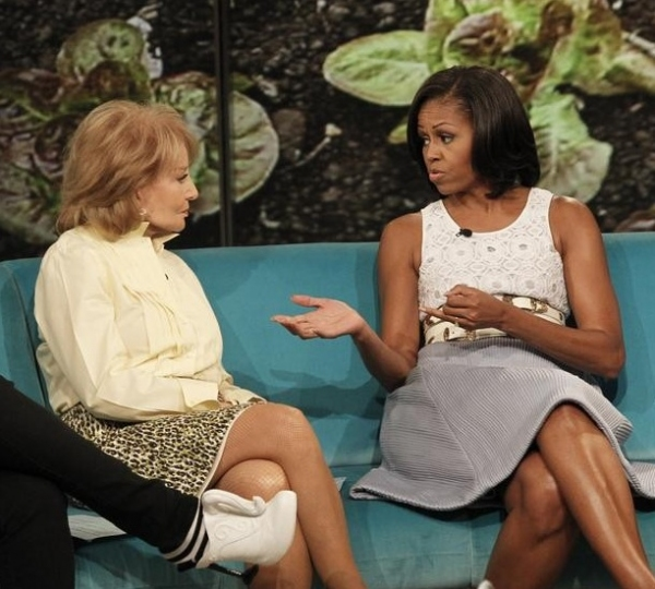 Barbara Walters & Michelle Obama at First Lady Michelle Obama Visits THE VIEW