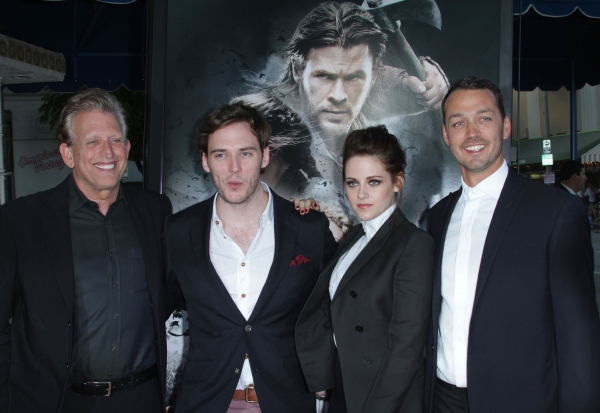 Joe Roth, Sam Claflin, Kristen Stewart and Rupert Sanders at Kristen Stewart & Sam Claflin at The SNOW WHITE & THE HUNTSMAN Premiere