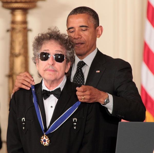 Bob Dylan, President Barack Obama