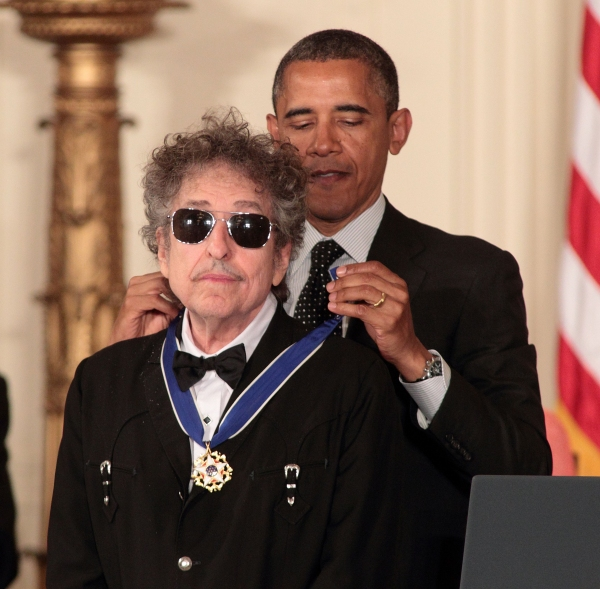 Bob Dylan and President Barack Obama