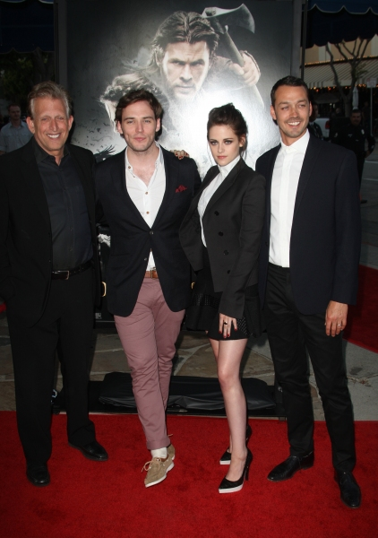 Joe Roth, Sam Claflin, Kristen Stewart and Rupert Sanders