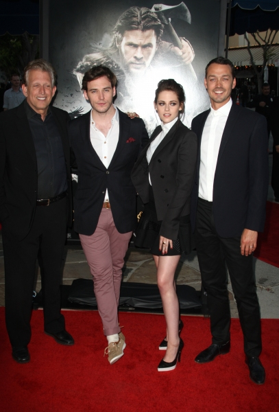 Joe Roth, Sam Claflin, Kristen Stewart and Rupert Sanders at On the Red Carpet at the SNOW WHITE AND THE SEVEN HUNTSMAN Premiere
