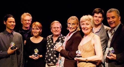 Ab*ie Award winners Andrew Lu, Natchez Trace set; Peter Brouwer, Natchez Trace actor; Photo