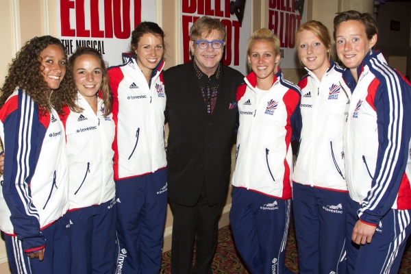 Elton John and Women's Hockey Team