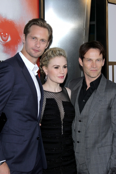 Alexander Skarsgard, Anna Paquin and Stephen Moyer at Anna Paquin & More at TRUE BLOOD Season 5 Premiere