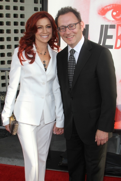 Carrie Preston and Michael Emerson at Anna Paquin & More at TRUE BLOOD Season 5 Premiere