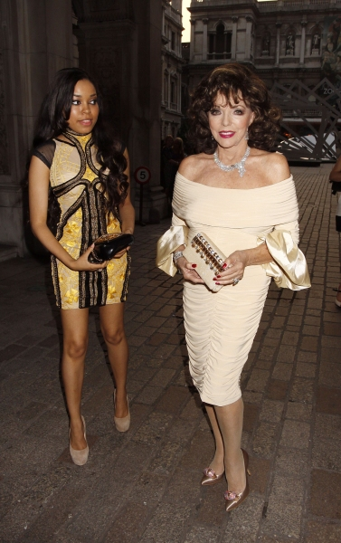 Dionne Bromfield and Joan Collins