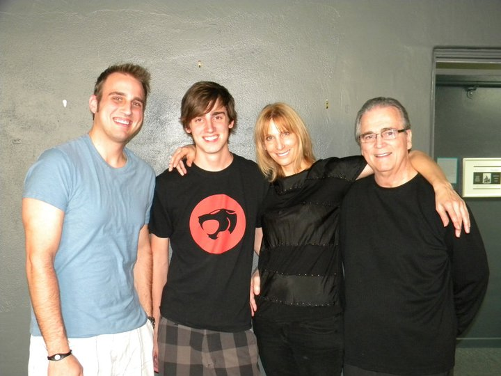 Cynthia's husband and sons - Anthony, Nick, Cynthia, Jeff