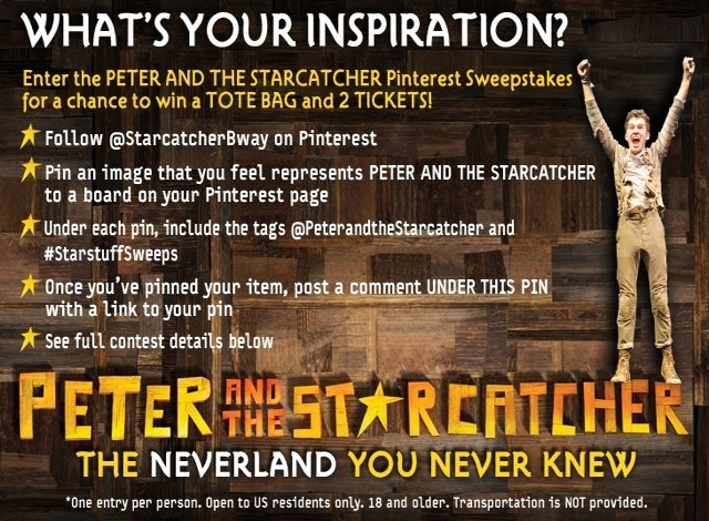 Enter the PETER AND THE STARCATCHER Pinterest Sweeps to Win Tote Bag & 2 Tickets!