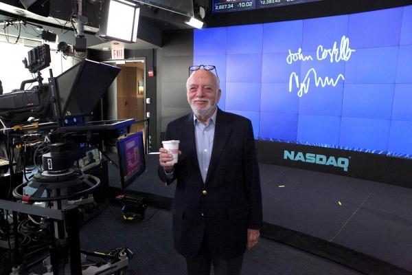 Harold Prince at Complete Harold Prince Visits NASDAQ on National Donut Day!