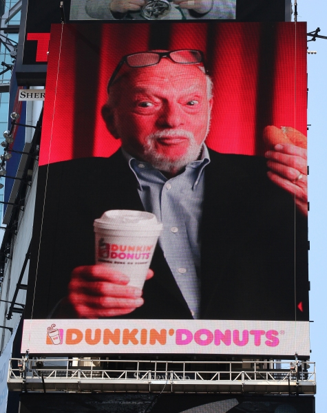The New Duncan Donuts Digital Billboard featuring 'The Prince Of Broadway'