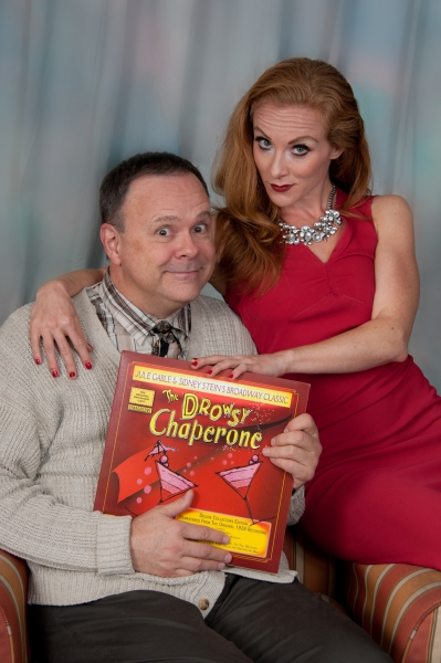 Paul Page as the Man in Chair and Jodi Brinkman as The Drowsy Chaperone Photo