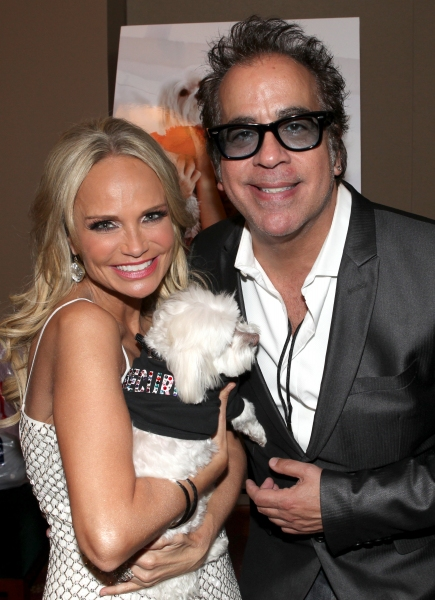 Kristin Chenoweth with her dog Madeline Kahn 'Maddie' Chenoweth with Richard Jay-Alexander at Photo Coverage Exclusive: Kristin Chenoweth Hosts Maddie's Corner Fundraising Event - Woof!
