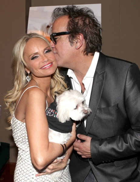 "Kristin Chenoweth with her dog Madeline Kahn ""Maddie"" Chenoweth with Richard Jay-Alexander"