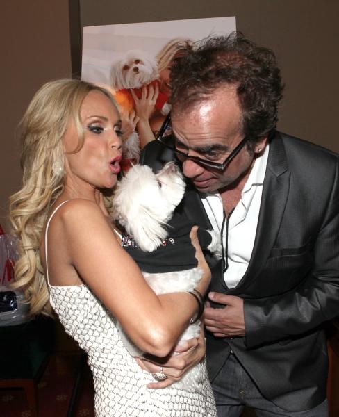 "Kristin Chenoweth with her dog Madeline Kahn ""Maddie"" Chenoweth with Richard Jay-Alexander"
