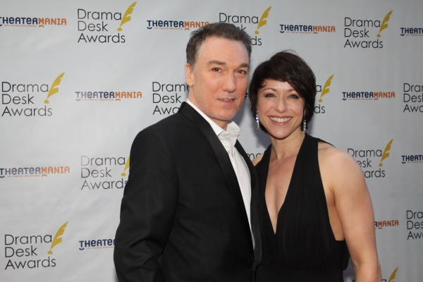 Patrick Page and Paige Davis at The 2012 Drama Desk Starry Arrivals Part 1