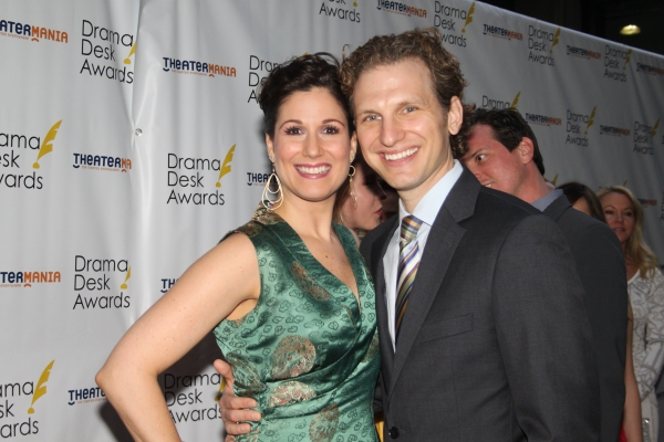 Stephanie J. Block and Sebastian Arcelus at The 2012 Drama Desk Starry Arrivals Part 2