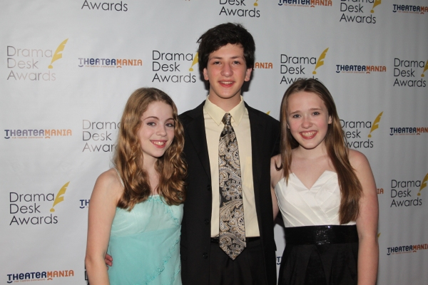 Rozi Baker, Gabe Green and Bailey Grey at The 2012 Drama Desk Starry Arrivals Part 2