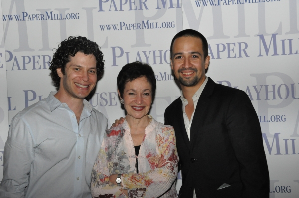 Thomas Kail, Lynn Ahrens and Lin-Manuel Miranda at Paper Mill Playhouse's ONCE ON THIS ISLAND Celebrates Opening Night!