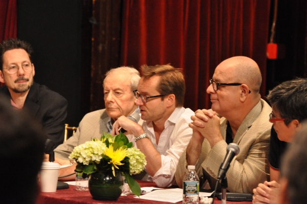 David Sheward, John Simon, Michael Riedel and Frank Rizzo at Inside Project Shaw's  Critic Symposium & Concert!