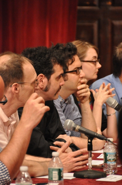 Andy Propst, Adam Feldman, Jason Zinoman and Helen Shaw at Inside Project Shaw's  Critic Symposium & Concert!