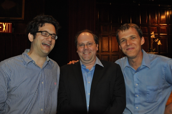 Jason Zinoman, David Cote and Rob Weinert-Kendt at Inside Project Shaw's  Critic Symposium & Concert!
