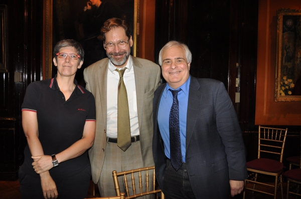 Elisabeth Vincentelli, David Staller and Peter Filichia at Inside Project Shaw's  Critic Symposium & Concert!